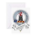 Middleton Clan Badge Greeting Cards (Pk of 10)