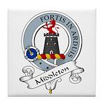 Middleton Clan Badge Tile Coaster