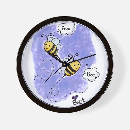 Boo Bees Wall Clock