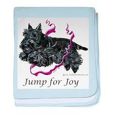 Jump for Joy Scottie baby blanket