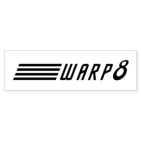 Warp 8 Sticker (Bumper)