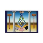 Masonic Brothers Rectangle Magnet (10 pack)