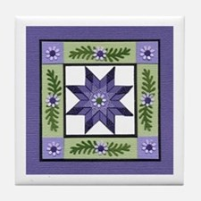 Cute Quilter Tile Coaster