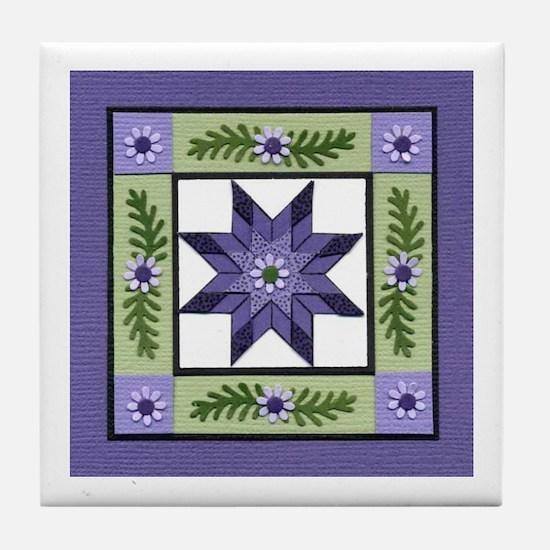 Unique Quilter Tile Coaster