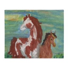 Horse and Colt gift Throw Blanket