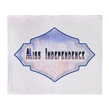 Miss Independence Throw Blanket