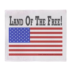 Land of the Free Throw Blanket