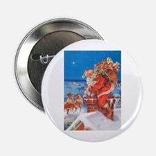 "Santa Up On The Rooftop 2.25"" Button"