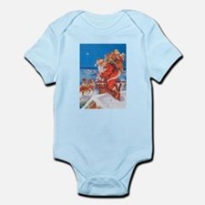 Santa Up On The Rooftop Infant Bodysuit
