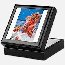 Santa Up On The Rooftop Keepsake Box