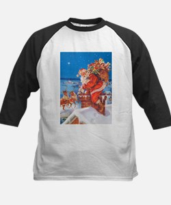 Santa Up On The Rooftop Tee