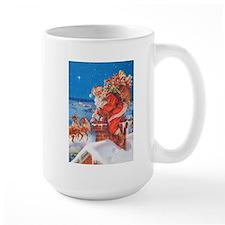 Santa Up On The Rooftop Mug