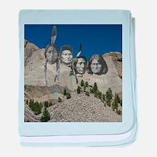 Native Mt. Rushmore baby blanket
