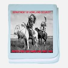 NDN Warriors Homeland Securit baby blanket