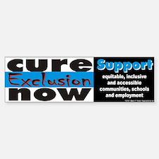 Cure Exclusion Bumper Bumper Bumper Sticker