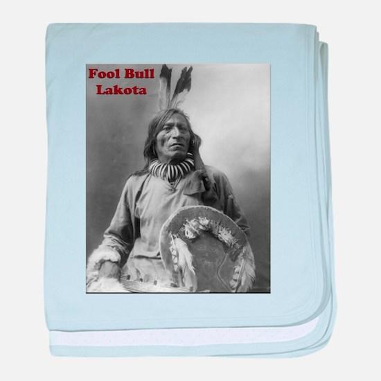Fool Bull - Lakota baby blanket