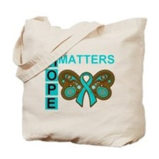 PCOS Hope Paisley Butterfly Tote Bag