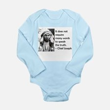 Truth Quote Long Sleeve Infant Bodysuit