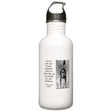 Sitting Bull Quote Water Bottle