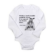 Open Hearts Long Sleeve Infant Bodysuit