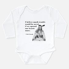 Open Hearts Long Sleeve Infant Bodysuit