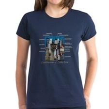 Lighthouses Of Lake Erie Women's Dark T-Shirt