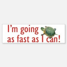 as fast as I can-turtle Sticker (Bumper)