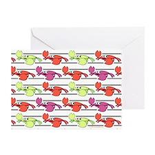 Crab PatternGreeting Cards (6)