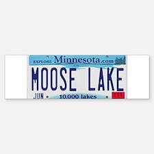 Moose Lake License Plate Bumper Bumper Sticker