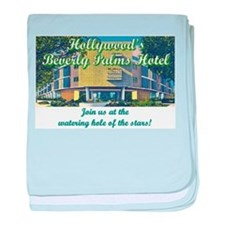 Hollywood Beverly Palms Hotel baby blanket