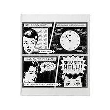 Rewrite Hell Writer's Throw Blanket