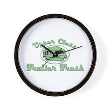 Upper Class Trailer Trash Wall Clock