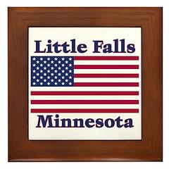 Little Falls US Flag Framed Tile