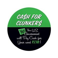 "Cash for Clunkers 3.5"" Button"