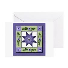 PurpleGreenLoneStar Greeting Cards
