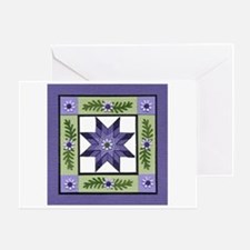 PurpleGreenLoneStar Greeting Cards