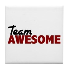 Team Awesome Tile Coaster
