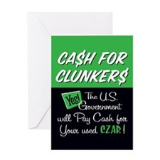 Cash for Clunkers Greeting Card