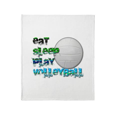 Eat sleep volley 2 Throw Blanket