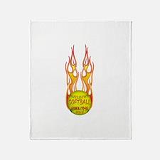 Feel the fire Throw Blanket