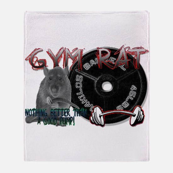 Gym rat Throw Blanket