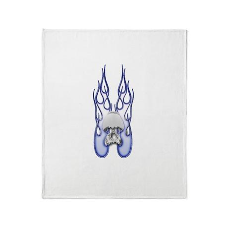 Blue fire Throw Blanket