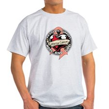 Uterine Cancer Heart T-Shirt