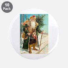 "Victorian St. Nicholas 3.5"" Button (10 pack)"
