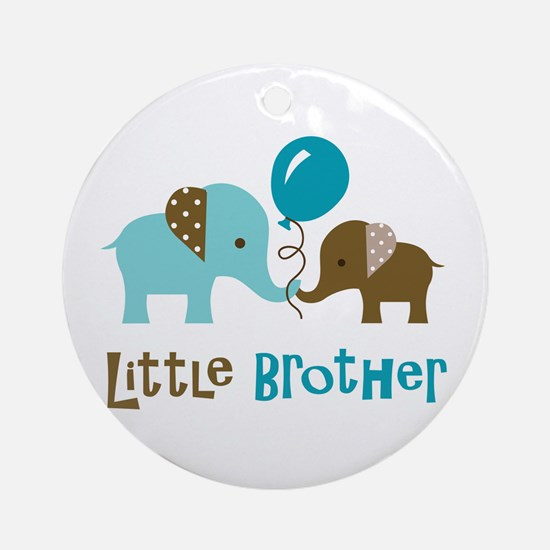 Little Brother - Mod Elephant Ornament (Round)