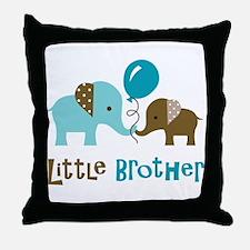 Little Brother - Mod Elephant Throw Pillow
