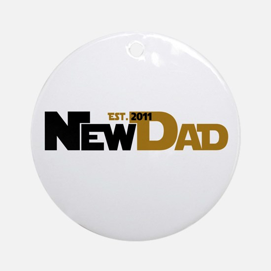 Cool New Dad 2011 Ornament (Round)