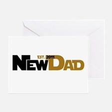 Cool New Dad 2011 Greeting Card