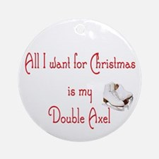 Double Axel for xmas Ornament (Round)