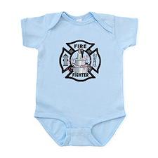 Firefighter Wedding Cake Infant Bodysuit
